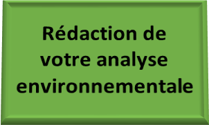 Rédaction analyse environnementale